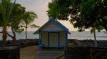 Small Catholic St. Peter's Church On Coast, Kona, Hawaii