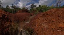 Stream Flows Through Red Soil, Hawaii