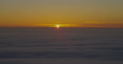 Sunset on Fog Horizon