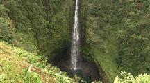Waterfall Empties Into Pool, Hawaii