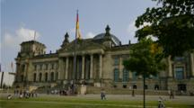Time Lapse People In Front of Berlin Germany Parliament building