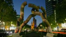 Time Lapse Berlin, Germany with Berlin Cathedral Through Sculpture