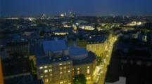 Time Lapse overlooking Zurich, Austria dusk to night