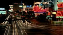 Activity On The Las Vegas, Nevada Strip At Night