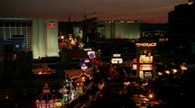 Sunset Turns To Night On The Las Vegas Strip