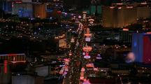 Dusk Turns To Night On The Las Vegas Strip