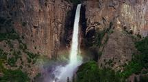 Yosemite Falls Creates Rainbow, Yosemite National Park