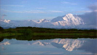 Mount Mckinley Reflected In Lake, Denali National Park