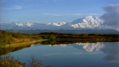 Mount Mckinley Reflected In Lake, Denali National Park