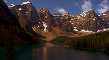 Time Lapse At Moraine Lake, Banff National Park