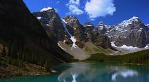 Scenic View Of Moraine Lake In Banff National Park