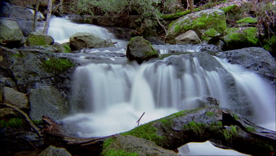 Time Lapse, Creek And Small Waterfall, Big Sur
