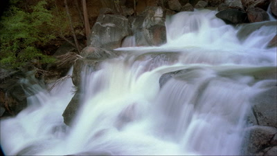 Time Lapse Of Waterfall At Yosemite National Park