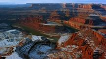 Panoramic View Of Canyonlands National Park In Snow