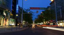 Time Lapse Of Vienna Street At Night