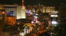 Time Lapse Of Las Vegas Strip At Night