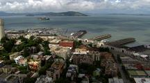 Aerial Of San Francisco With Coit Tower