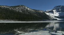 Ice And Snow At Cameron Lake, Waterton Lakes National Park