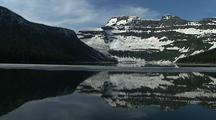 Snowy Reflection At Cameron Lake, Waterton Lakes National Park