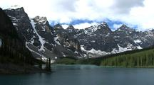 Mountain Peaks Above Lake Moraine, Banff National Park