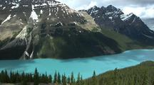 Mountain Peaks Above Peyto Lake, Banff National Park