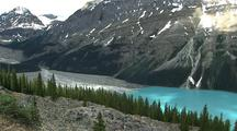 Mountain Peaks Above Peyto Lake, Banff National Park