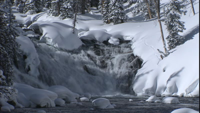 Lewis Falls  In Yellowstone National Park