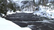 River In Snow, Yellowstone National Park