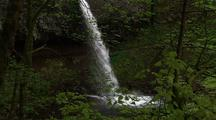 Waterfall Empties Into Pool, Columbia River Gorge