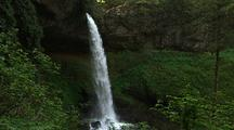 Waterfall Empties Into Pool, Silver Falls State Park