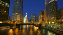 Time Lapse Chicago River, Boats