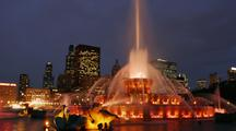 Time Lapse, Buckingham Fountain At Dusk, Chicago