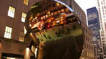 Time Lapse, People On City Street Reflection