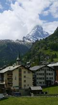 Vertical Time Lapse Matterhorn From Zermatt, Switzerland