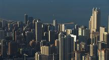 View Of Chicago And Lake From Sears Tower