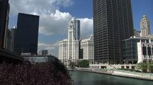 View Of Chicago River, City Skyline