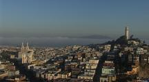 Panoramic View Of San Francisco To Coit Tower