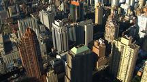 Aerial Of Manhattan Buildings, Top Of Buildings