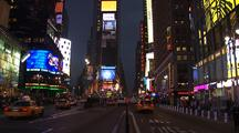 Cars Travel In Times Square, New York