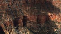 Aerial View Of Grand Canyon, Steep Cliffs, Snow