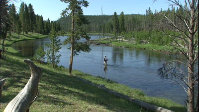 Fishing and Hunting Stock Footage