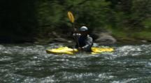 White Water Kayaking In Rapids