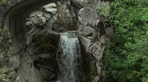 Mt. Rainier, Waterfall Under Bridge