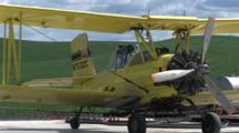 Small Airplane Near Wheat Field In Palouse Washington