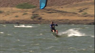 Kiteboarding On The Columbia River