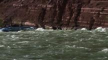 Raft And Rapids In Grand Canyon