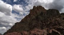 Travel Down River, Looking Up At Rock Formations, In Grand Canyon