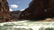 Travel Down River And Rapids In Grand Canyon
