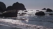 Offshore Rocks At Lagoon Beach
