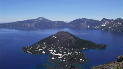 Crater Lake Scenic, Overlook Of Wizard Island